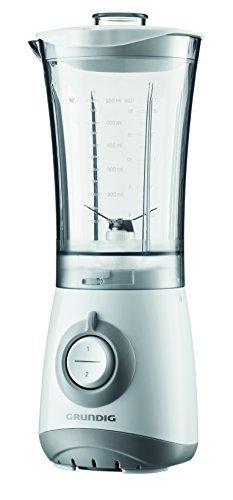 Grundig SM 3330 Kompaktmixer, Mixer, Kaffeemühle,Entsafter oder Zerkleinerer mit verschließbarem BPA-freiem Behälter 300 ml, weiß/silber - Entsafter Handliche