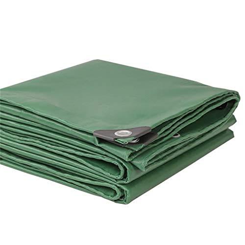 Grüne Baumwoll-Canvas-Plane Wasserdichte Hochleistungs-Extra Large für Outdoor-Camping Picknick-Zelt Shelter Sonnencreme Feuchtigkeitsbeständige Strahlenschutzplane, Dicke 0,42 Mm, 500G / M2