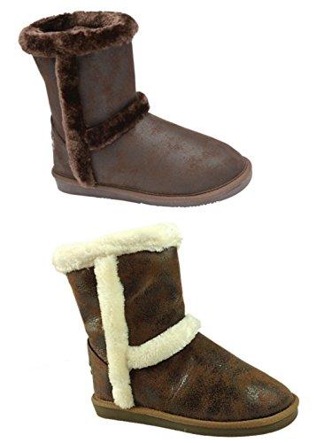 Foster Footwear - Stivali Chelsea da ragazza' Unisex adulti donna Unisex per bambini Dk Chestnut