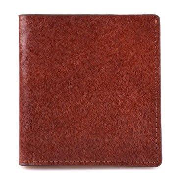 Ultra dünne Brieftasche, kurze, echte, handgemachte, retro, horizontal, Etui, Leder, Tasche, schwarz Light brown