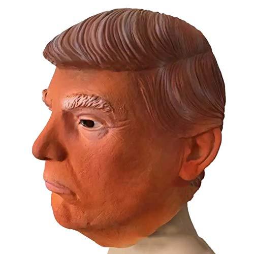 JingHeYongKeJi Donald Trump Promi-Latex-Maske Ideal Für Partys Halloween Cosplay - ()