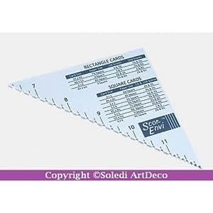 Triangle de pliage en pouce, pour diagonales, enveloppes, pour scor-pal
