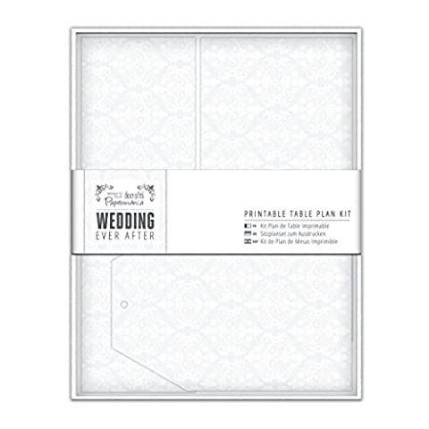 Papermania imprimables pour Plan de Table de mariage Motif damassé