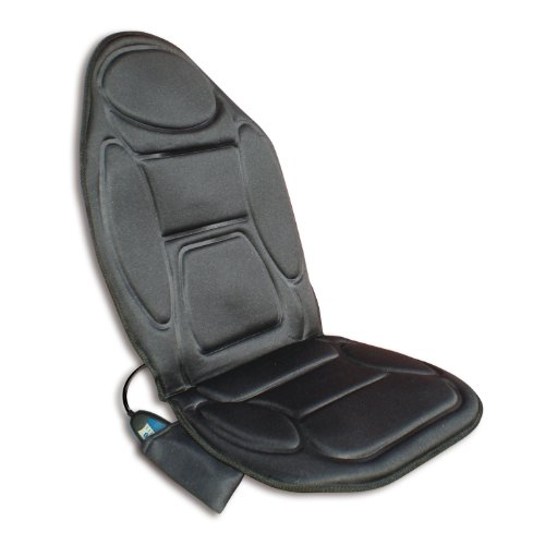 Rovera Massage Cushion Sedile Massaggiante a Vibrazione con Adattatore per Casa/Auto, Nero
