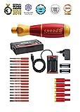 Wiha E-Schraubendreher Set 3 speedE® electric, 25-tlg: in L-Boxx Mini mit 16x slimBits, 5x easyTorque Adaptern, 2x Batterien und Ladegerät EU