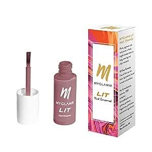 MyGlamm LIT Nail Enamel - Say No More (Onion Pink Shade), 7ml, Long Lasting & Glossy