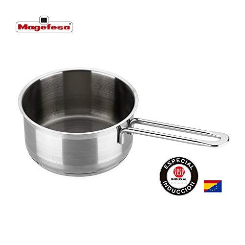 MAGEFESA MILENIUM - La Familia de Productos MAGEFESA MILENIUM está Fabricada en Acero Inoxidable 18/10, Compatible con Todo Tipo de Cocina. Fácil Limpieza y Apta lavavajillas (CAZO, 14_cm)