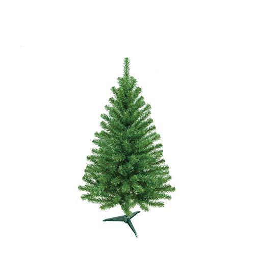 HENGMEI 60cm PVC Weihnachtsbaum Tannenbaum Christbaum Grün künstlicher mit ständer ca. 60 Spitzen Lena Weihnachtsdeko (Grün PVC, 60cm)