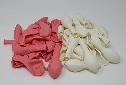 Luftballons | rosa, weiß, 50 Stück - 2