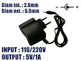 Electronique Et Informatique Best Deals - KALEA-INFORMATIQUE © - Alimentation Externe Secteur 220V - Sortie 5V DC 1A - Embout 2.5 mm x 5.5 mm