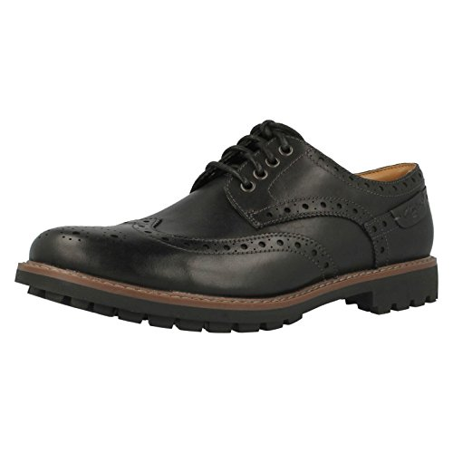 Clarks Montacute Wing 203510927090, Chaussures basses homme Noir