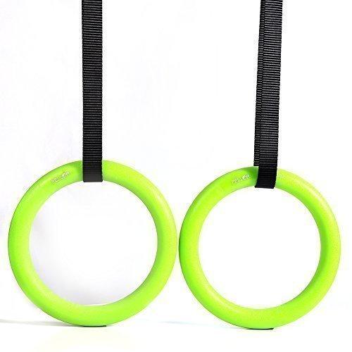 Pellor Olimpico Anelli Da Ginnastica Per Parte Superiore Del Corpo Forza e Peso corporeo Excercising, Sospensioni Allenamento - Verde