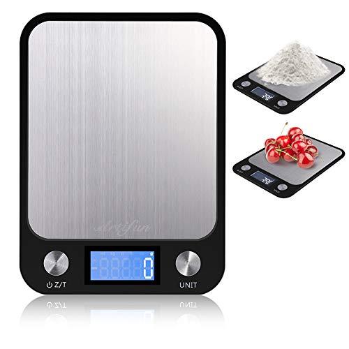 Balanza digital de cocina ARTIFUN Esta báscula de cocina también incluye una función cero / tara que le permite poner a cero los recipientes cuando se pesan varios ingredientes. Cambiar las baterías es frustrante y puede ser costoso, por lo que nuest...