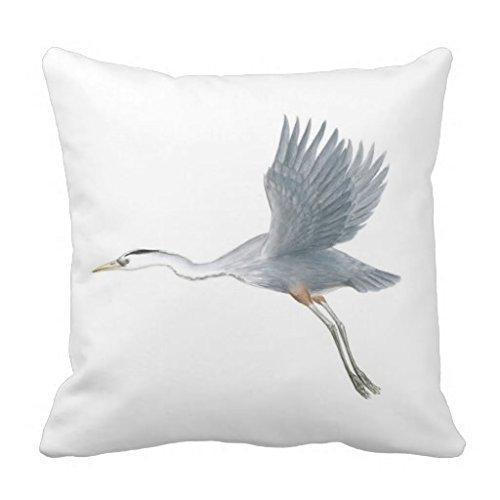 fengxutongxue Great Blue Heron Taking Off Pillow Case 18