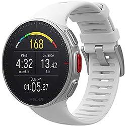 Polar Vantage V - Reloj multisport con GPS, pulsómetro en la muñeca, barómetro, rutas, notificaciones - Blanco,