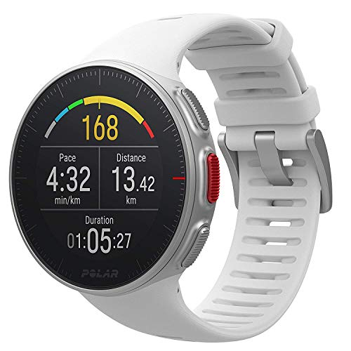 Polar Vantage V - Multisport watch with GPS, heart rate monitor, barometer, routes, notifications - White,