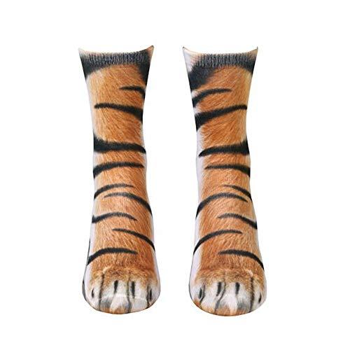 RENNICOCO Tatzen Socken 3D Print Animal Crew Socken Tier Fuß Huf Paw Print Socke