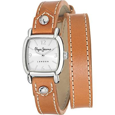 Pepe Jeans R2351103503 - Reloj con correa de caucho para hombre, color plateado / gris