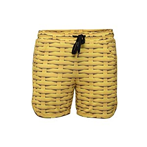RobeCode Damen Shorts Rattan - kurze sportive Hose in sonnengelb
