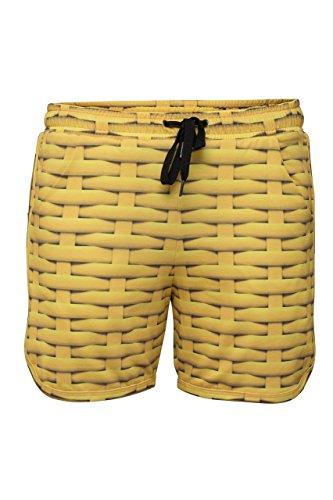 RobeCode Damen Shorts Rattan - kurze sportive Hose in sonnengelb -