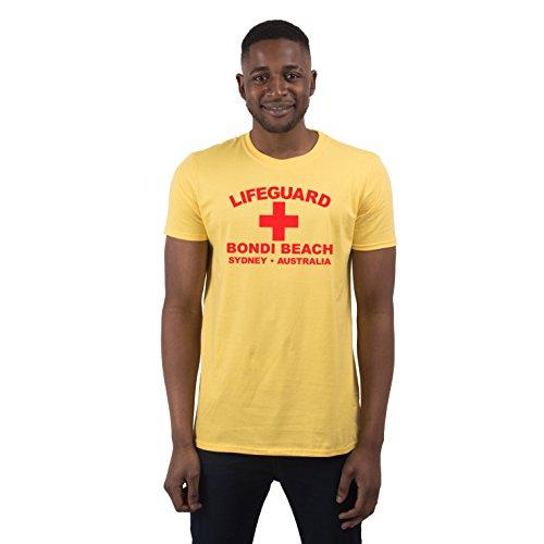 Herren Lifeguard Bondi Beach Sydney Australia Surfer Beach Kostüm T-Shirt Gelb XXL