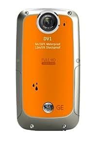 GE General Electric DV1 Digitalkamera (5 Megapixel CMOS, 4-fach dig. Zoom, 6,3 cm (2,5 Zoll) Display, wasserdicht bis 5m, stoßfest bis 1,5m, Full-HD) orange