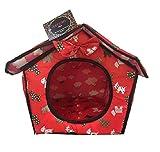ducomi® dogbnb–Vogelhaus aus weichem Stoff für Hunde und Katzen–Hundehütte faltbar für Hund und Katze-Form-Haus