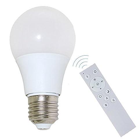 GCBTECH Smart wireless LED Lampe de commande, lumière chaude Ampoule, télécommande sans fil, économies d'énergie, intelligent Bulb en Colore Dimmable , E27 Bulb +