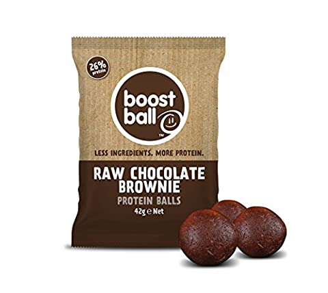 Boostball Raw Chocolate Brownie Protein Boost ball (Pack of 12 x 42g)