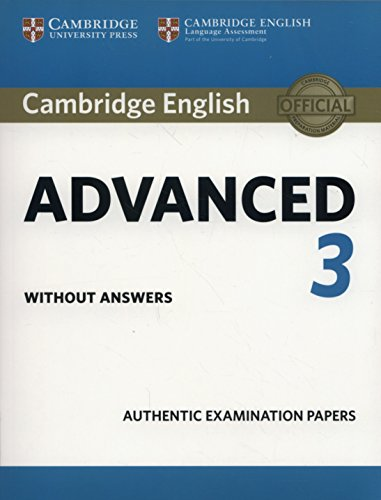 Cambridge english advanced 3 student's book without answers (cae practice tests)