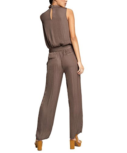 ESPRIT Collection Damen Jumpsuits 056EO1L001-Luftig Lockerer Fall, Braun (Taupe 240), W30/L32 (Herstellergröße: 40) - 2