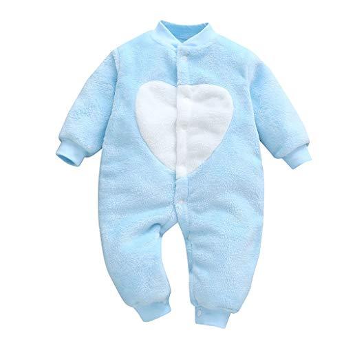Pwtchenty Basics Strampler/Einteiler Winter Säugling Spielanzug Schlafanzug Outfit Jumpsuit Bekleidung