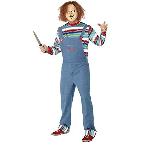 Chucky die Mörderpuppe Kostüm Filmkostüm S 44/46 Horrorkostüm Chucky Outfit Halloweenkostüm Horrorkostüme (Für Menschen Kostüme Halloween Berühmte)