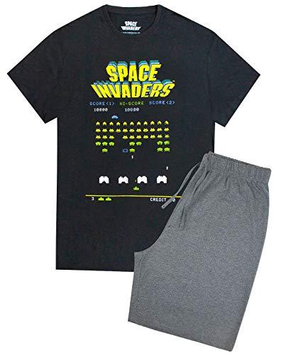 Official Space Invaders Retro Gaming Men's Pyjamas Shorts Lounge Set
