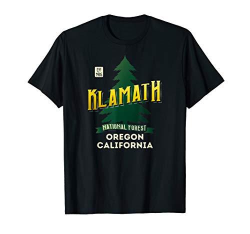 Klamath National Forest Retro Logo Oregon and California T-Shirt -