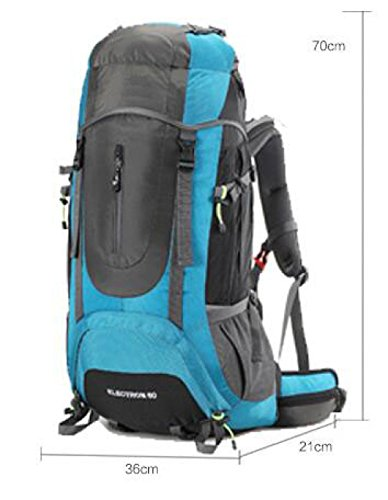 Outdoor Profi Bergsteigen Tasche Groß Kapazität Reise Rucksack Blue