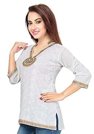 9228991e84e Ishin Women'S White Tops: Amazon.in: Clothing & Accessories