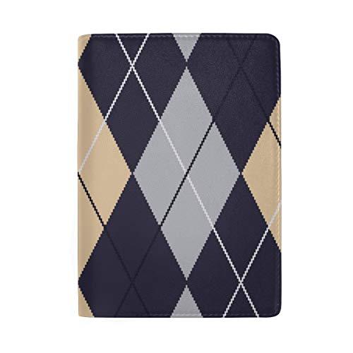 Bunte Argyle Classic Diamonds Blocking Print Passinhabers Hülle Reisegepäck Passport Wallet Kartenhalter Aus Leder Für Männer Frauen Kinder Familie -