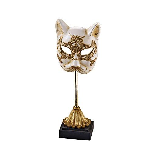 Design Toscano SH89901 Tier Maskerade im Venezianischen Stil Gatto die Katze Maske (Masken Tier Maskerade)