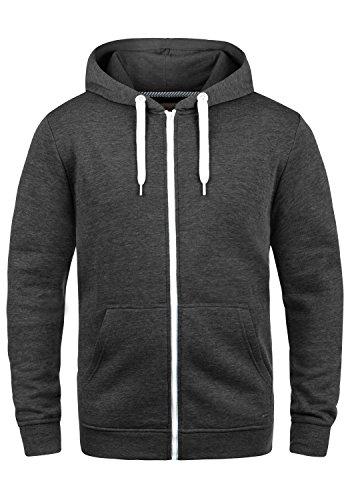 !Solid Olli Ziphood Herren Sweatjacke Kapuzenjacke Hoodie mit Kapuze Reißverschluss und Fleece-Innenseite, Größe:3XL, Farbe:Dark Grey Melange (8288)