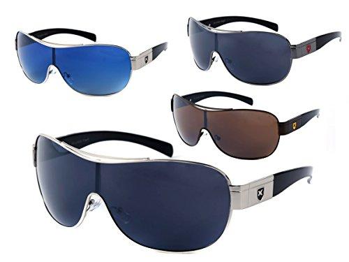 LOOX Sonnenbrille große Gläser Herren Damen Retro Pilotenbrille Modell Barbados 104 von ALSINO