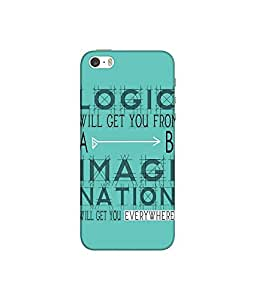 """NH10 DESIGNS 3D PRINTING DESIGNER HARD SHELL POLYCARBONATE """"IMAGINATION MOTIVATION INSPIRATION"""" PRINTED SHOCK PROOF WATER RESISTANT SLIM BACK COVER MATT FINISH FOR APPLE IPHONE5S/IPHONE 5 S/IPHONE5 S"""