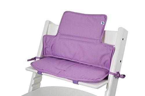 Tinydo Hochstuhl-Sitzkissen+ optimal für Stokke Tripp-Trapp und viele anderen Treppenhochstühle [violett] - 2teilg. Set mit Memory-Schaum-Dämpfung - Sitzverkleinerer-Auflage für Babystühle!