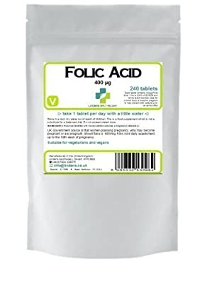 Lindens Folic Acid 400mcg 240 Tablets by Lindens