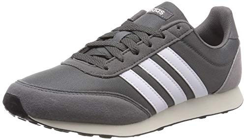 adidas V Racer 2.0, Herren Laufschuhe, Grau (Grey Four F17/Ftwr White/Light Granite Grey Four F17/Ftwr White/Light Granite), 44 EU (9.5 UK)