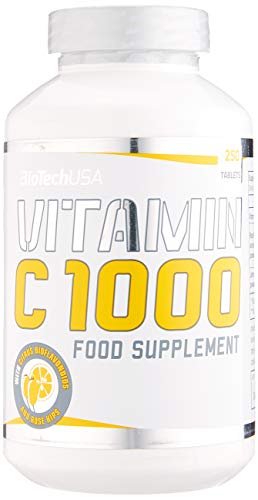 BioTech USA Vitamin C 1000 USA 250 Tabletten, 1er Pack (1 x 450 g) -