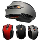Wallfire 2,4 GHz Arc Wireless Mouse optische Mini-Gaming-Mäusemäuse & USB-Empfänger für PC-Laptop (Color : Grey)