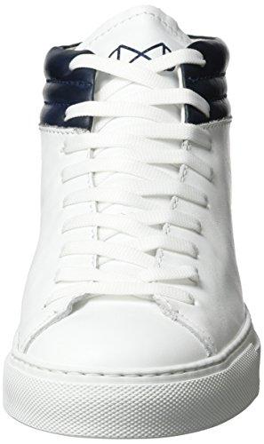 Nat-2 Unisex-adulto Elegante Alto-top Bianco (bianco Navy)