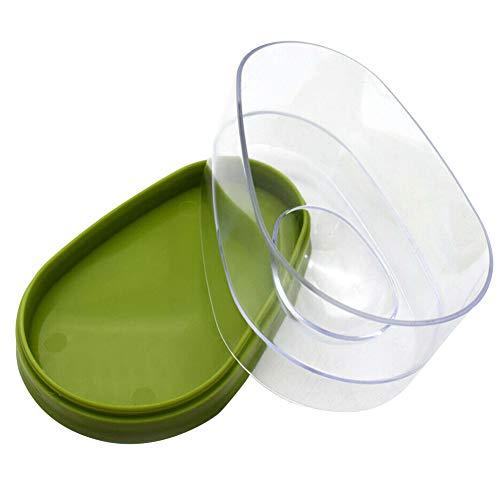 Faderr Avocado Crisper, Aguacate Caja de Almacenamiento portátil para Aguacate Saver contenedores para conservar la frescura, Reutilizable Fruta Vegetal Caja de conservación de Alimentos