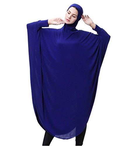 Dreamskull Damen Frauen Hijab Muslime Abaya Dubai Kleider Muslimische Islamische Kleidung Arab...